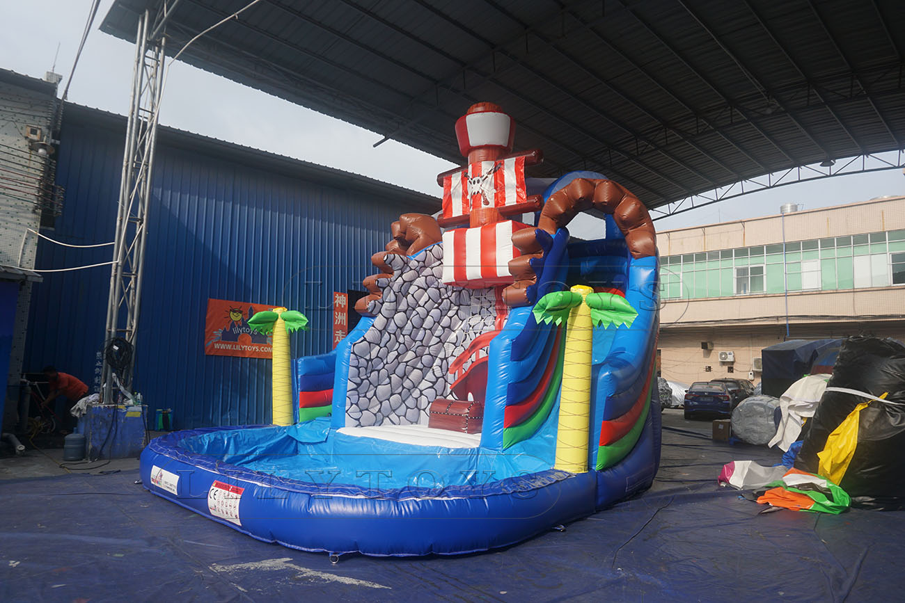 pirate inflatable water park with pool