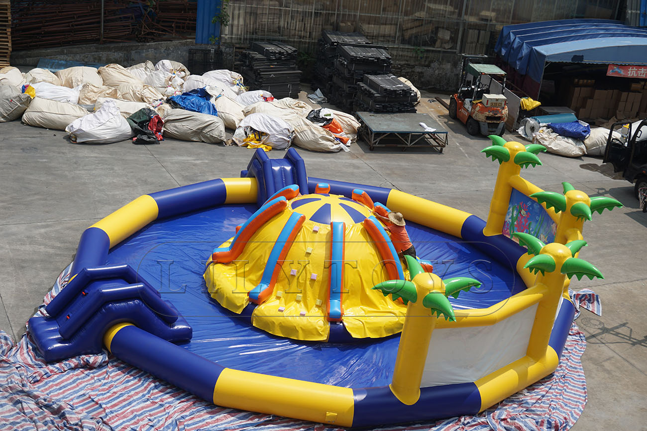 inflatable tropical island water park