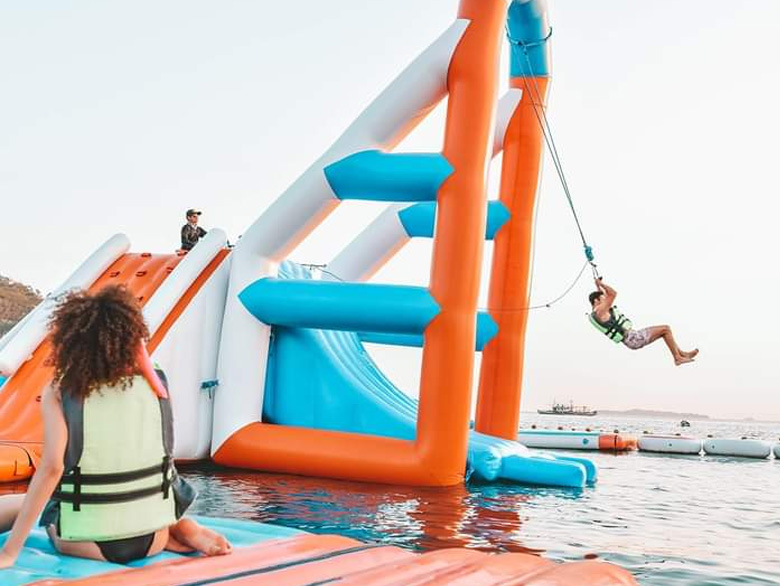Floating water park