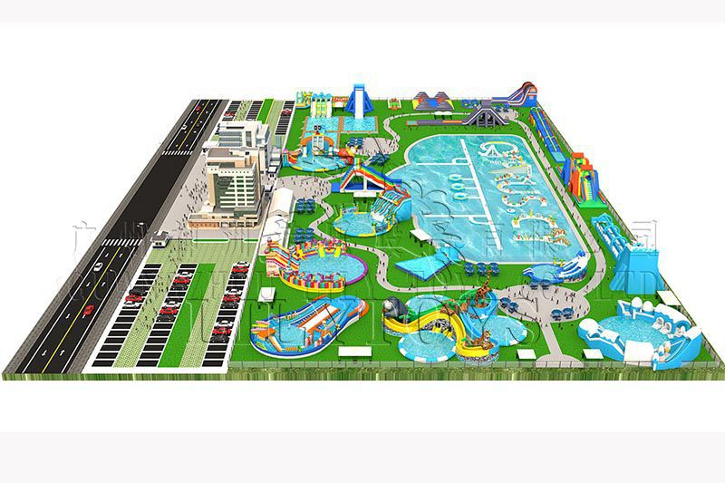 Lilytoys water play equipment inflatable outdoor trampoline park inflatable water park game for adult with cheap prices passed CE certificate