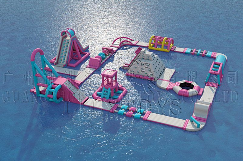 Inflatable water sport and entertainment aqua park  floating water park games with tuv certificate