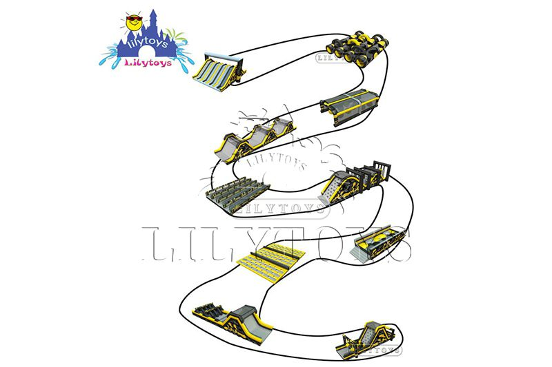 Inflatable 5K Obstacle Course Outdoor Sport Games