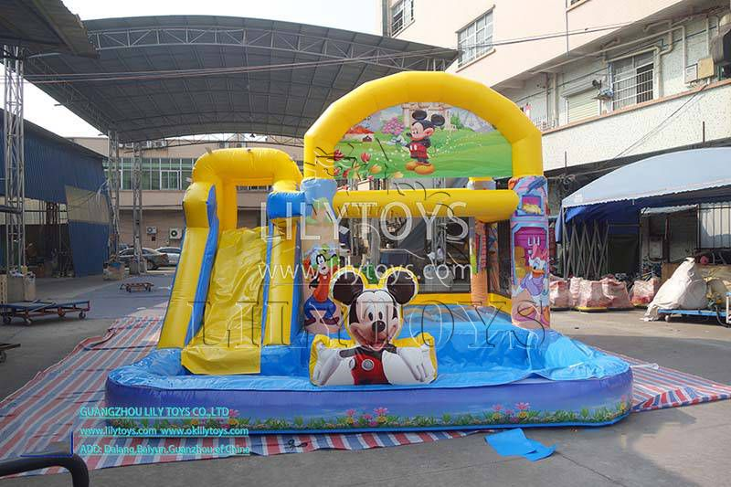 CE passed 0.55mm pvc jumping castle Inflatable Water Slide Games For Kids Slide With Pool