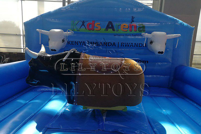 0.55mm pvc tarpaulin inflatable mechanical bull sport game crazy machine bull interactive game for commerce