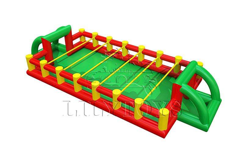 Lilytoys hot selling Inflatable sport game Football Field Soap Soccer Sports Bumper Ball Games For Sale