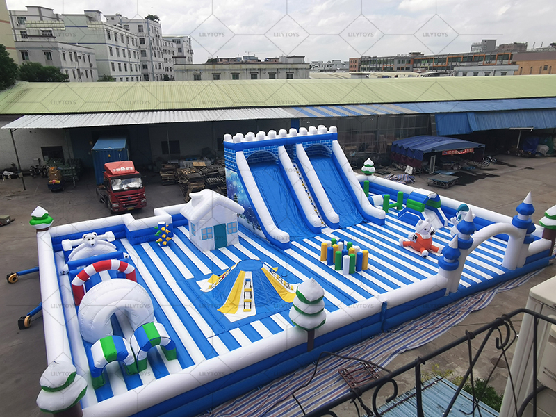 Inflatable Snow slide park for indoor and outdoor