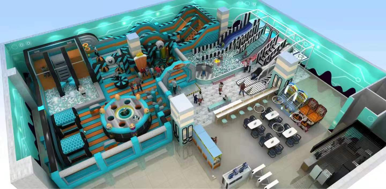 Inflatable Indoor Park trampoline