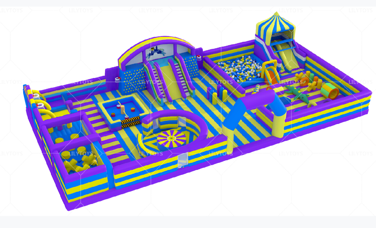 indoor inflatable park for kids and teenages
