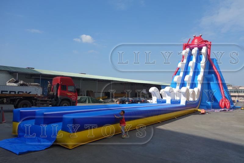 Double Lane inflatable water slide