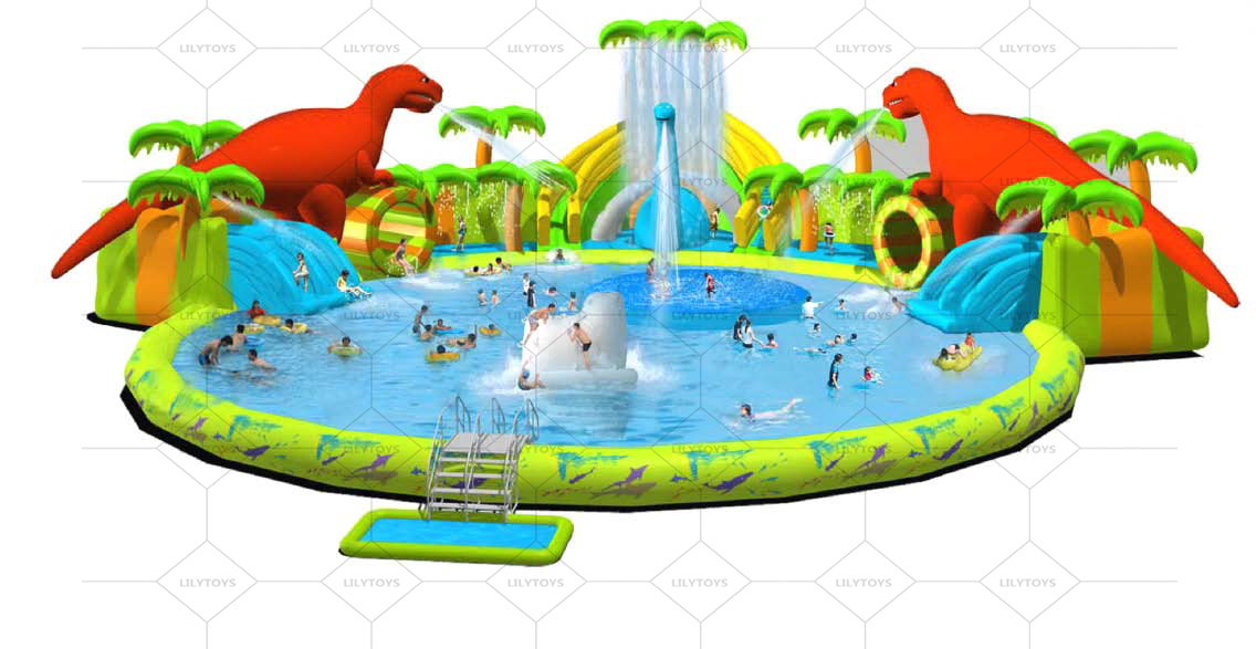 Dinosaur  inflatable water park