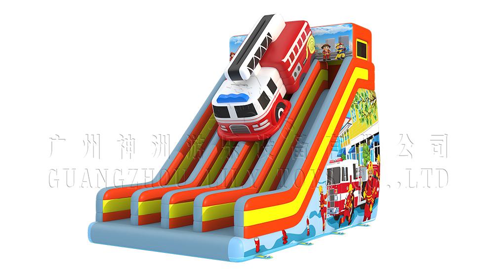 fireman inflatable big slide