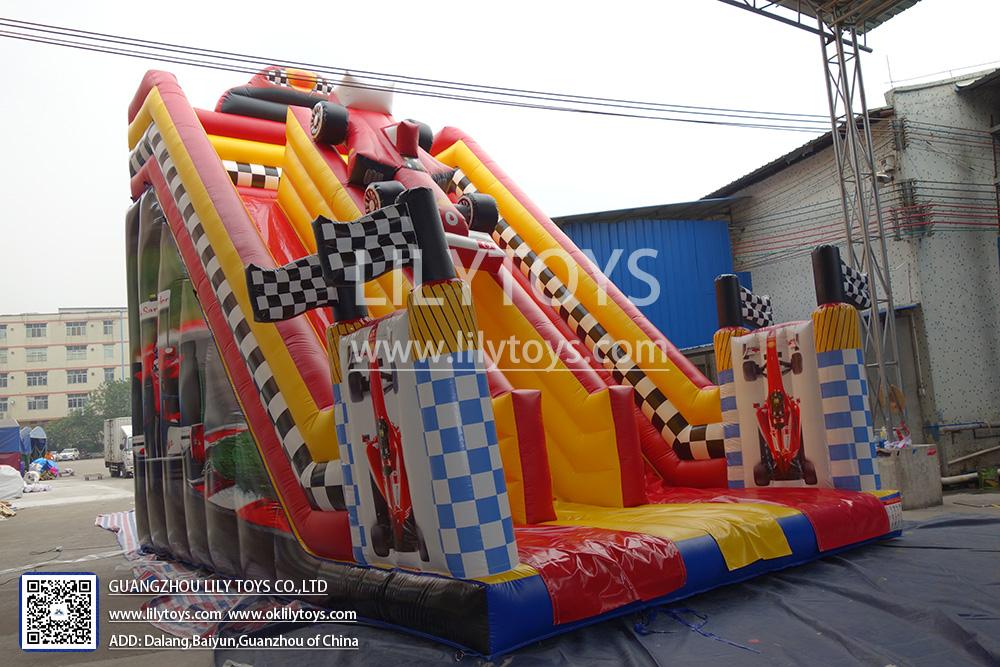 race car inflatable slide