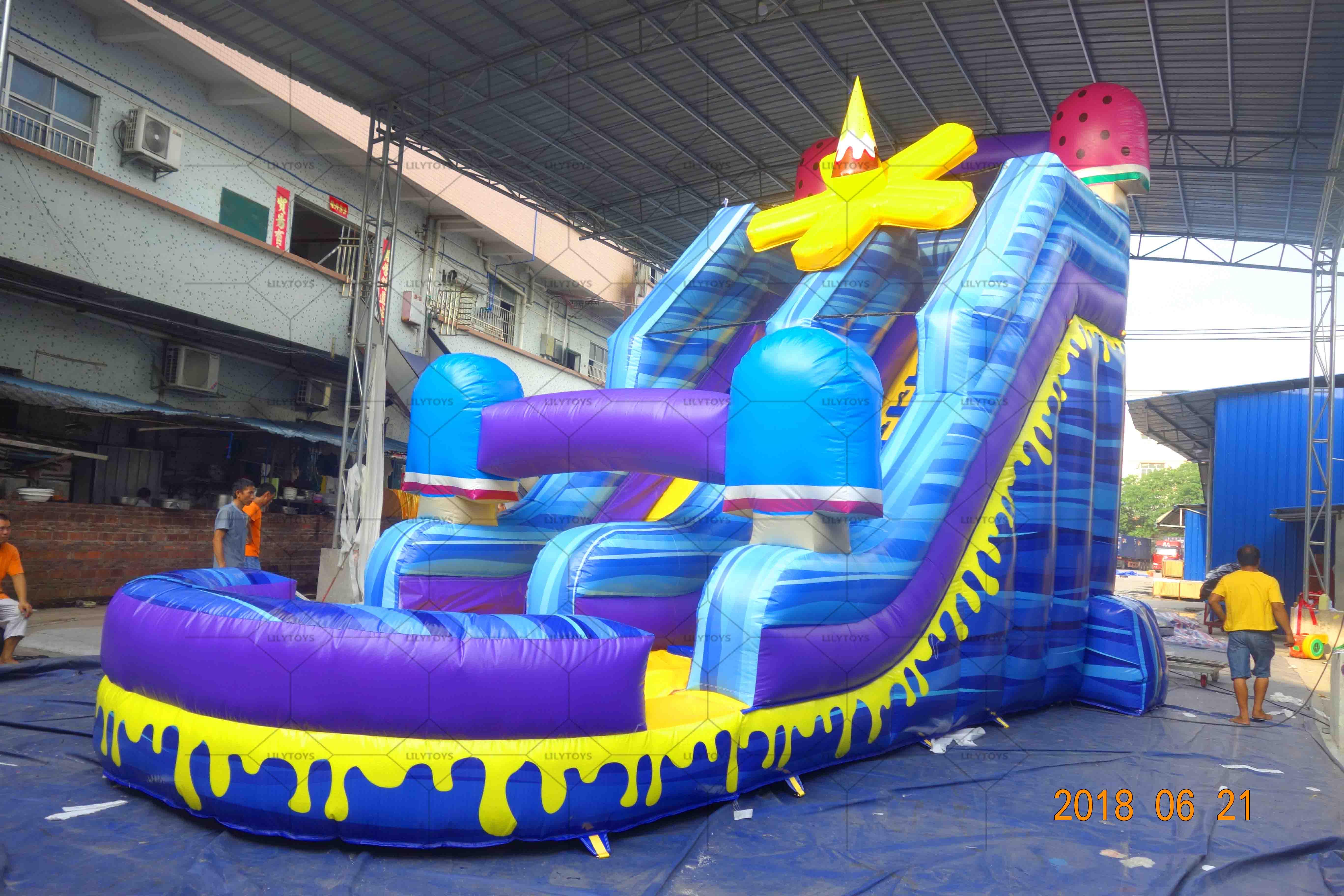Icecrean inflatable water slide