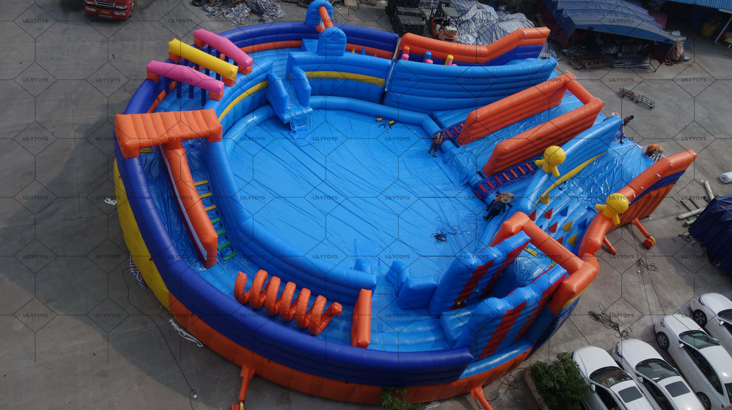 New water obstacle inflatable park