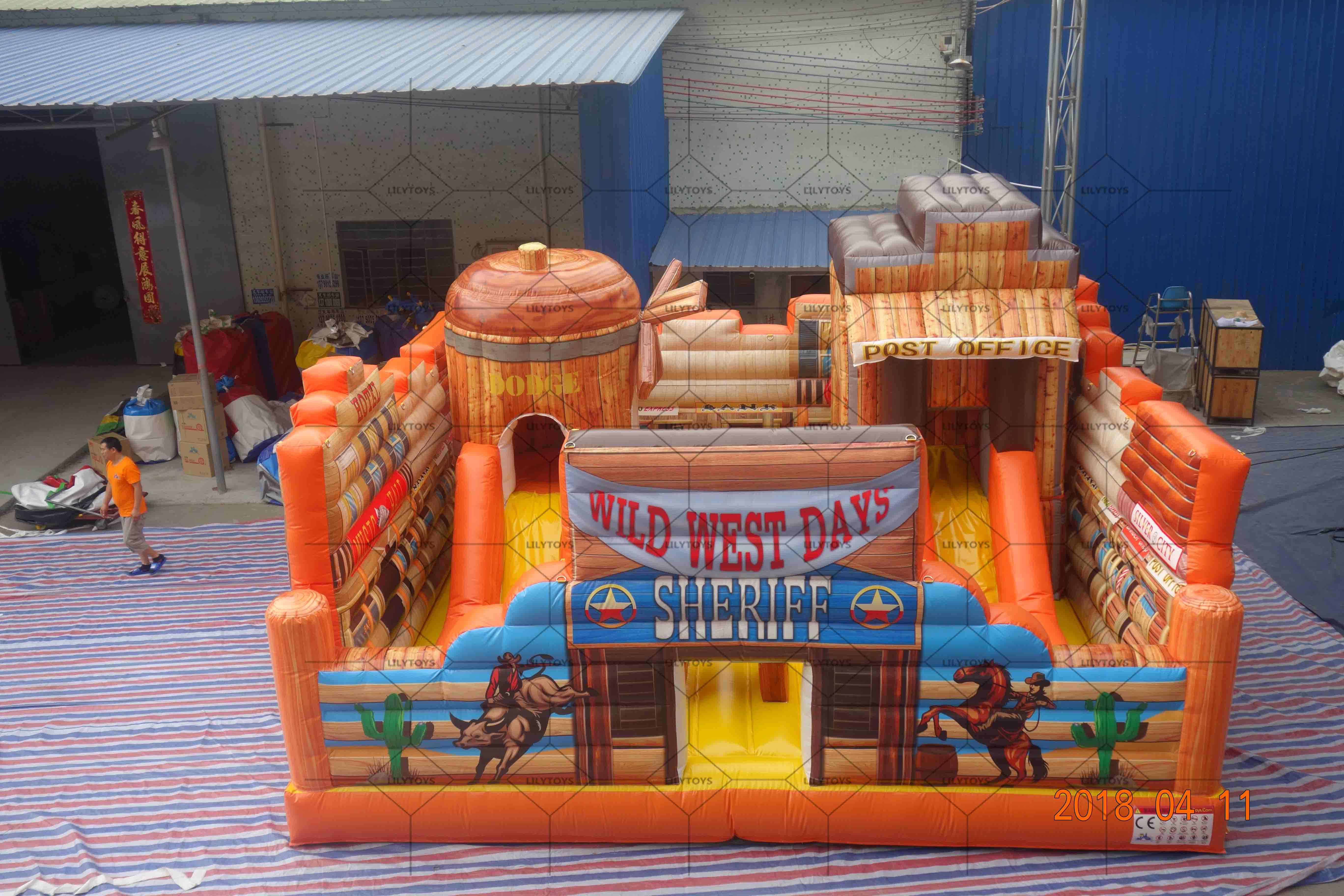 cowboy inflatable castle