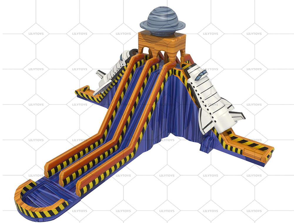 spacecraft new inflatable water slide