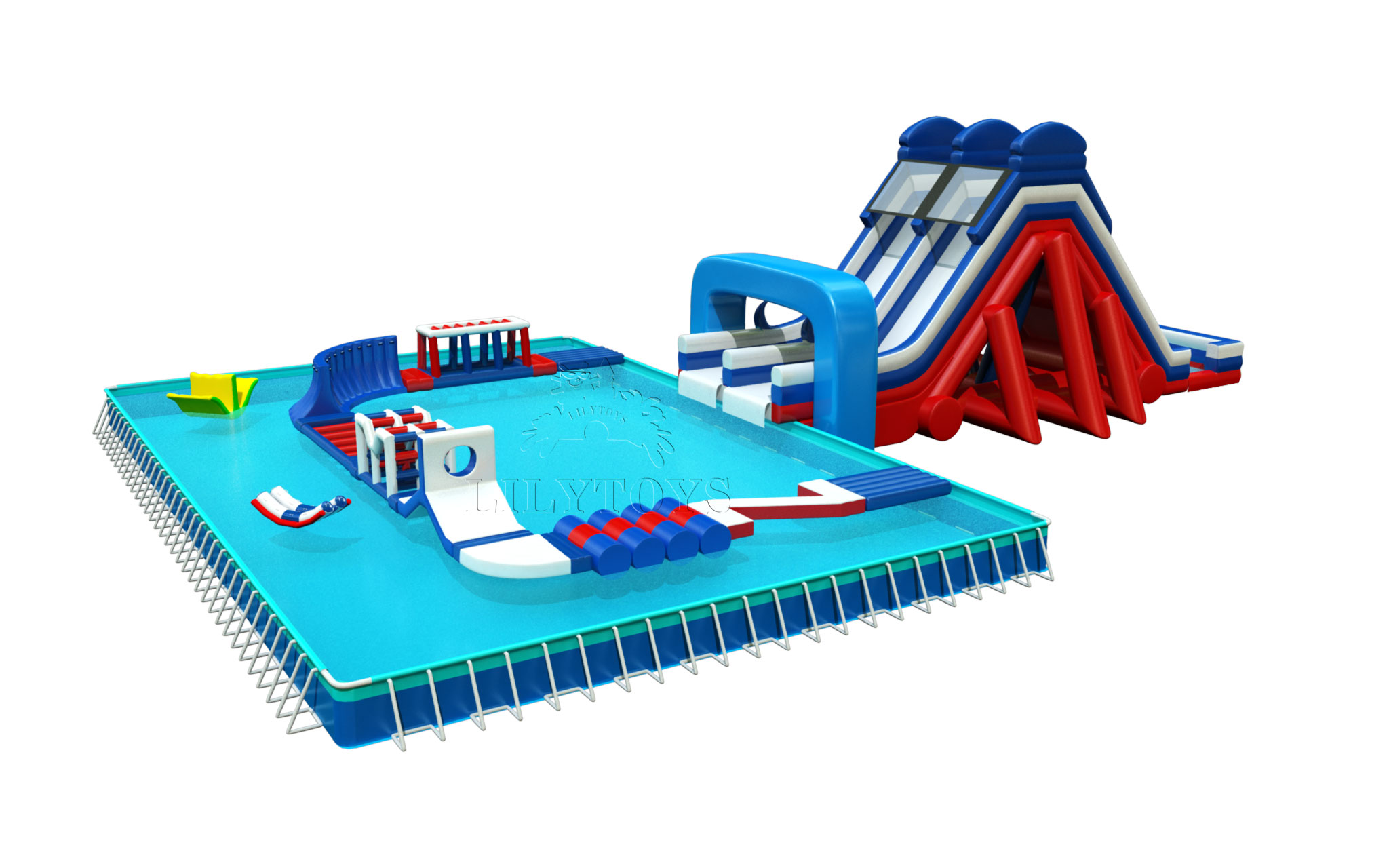 giant inflatable big slide for pool for adults