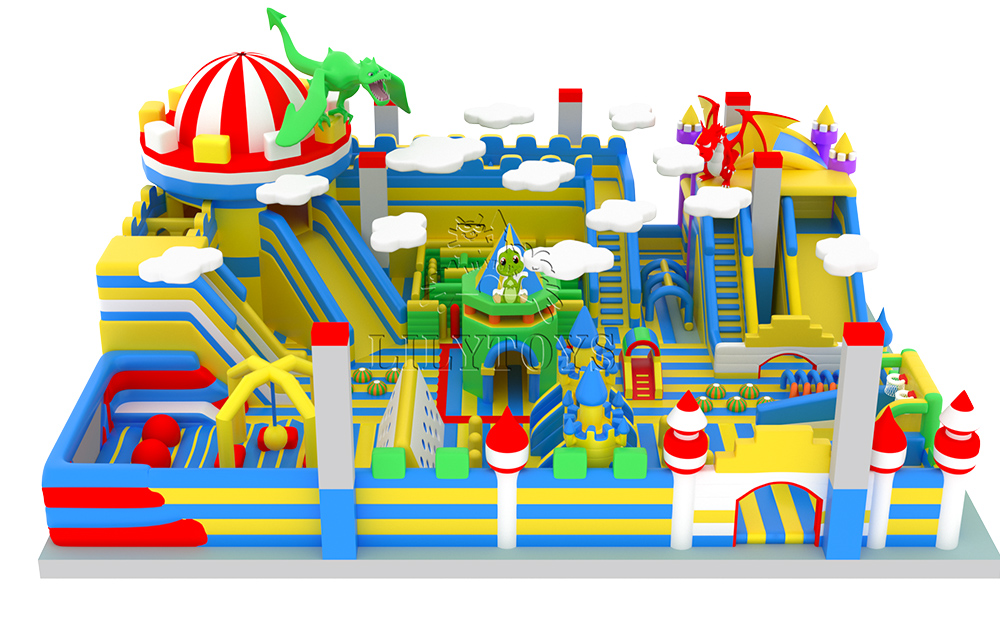 new inflatable dragon castle playground park