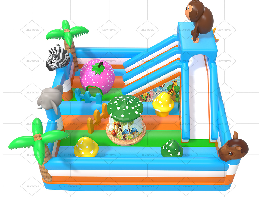 inflatable animal park bounce combo jumping