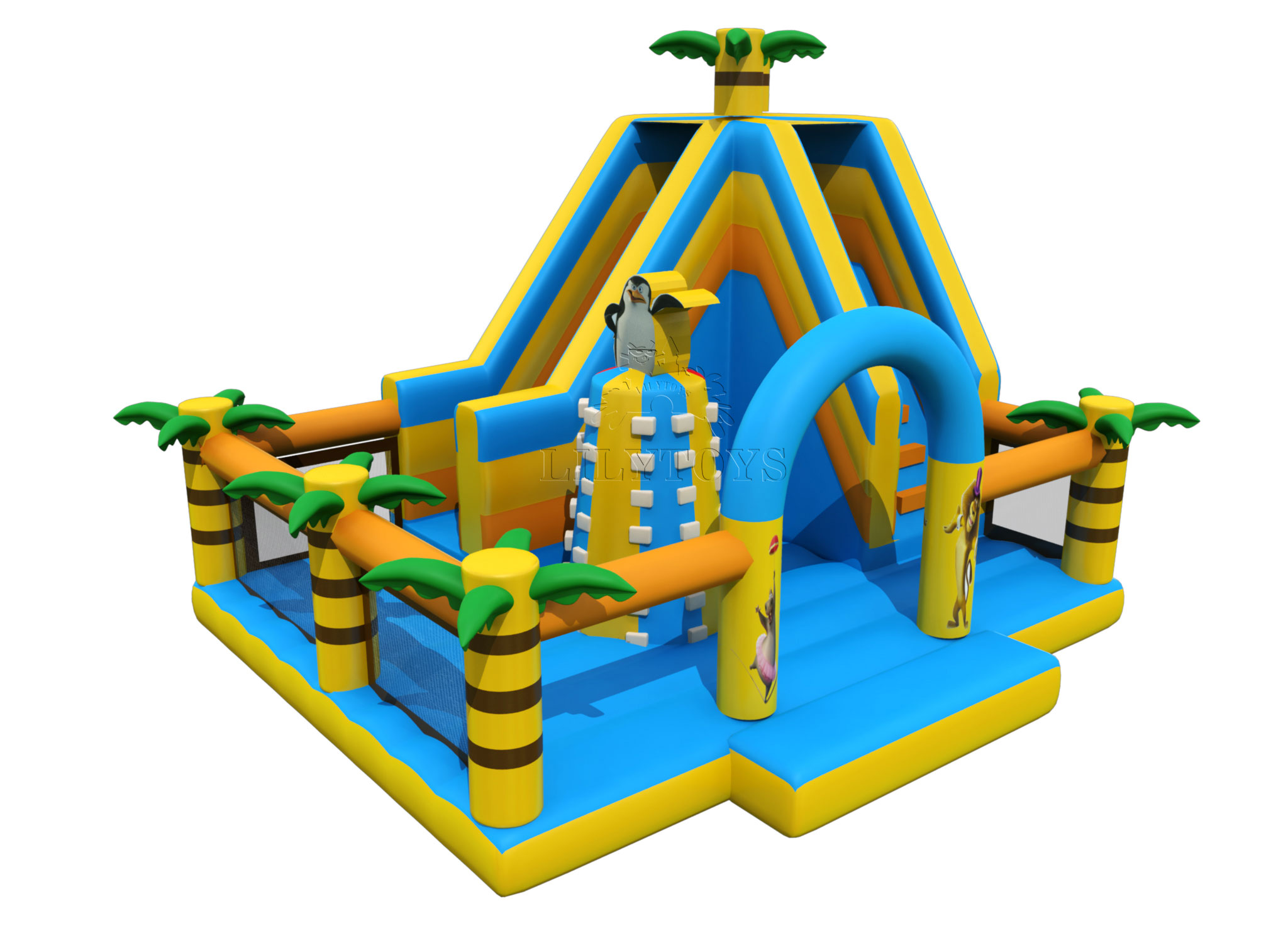 junle bounce with slide climbing park