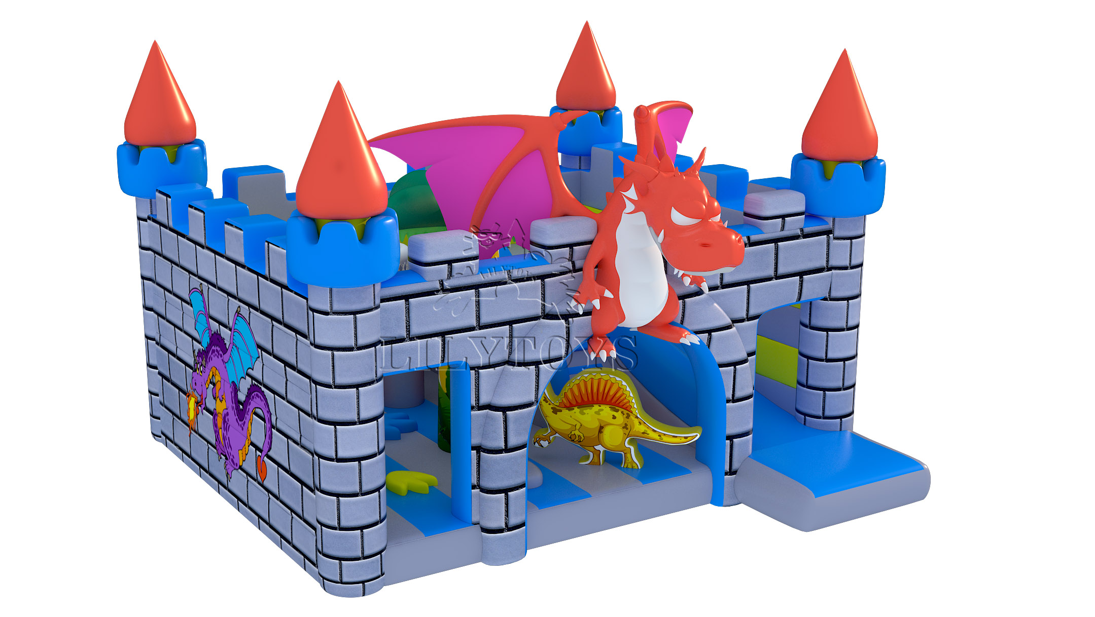 New inflatable castle bounce with slide