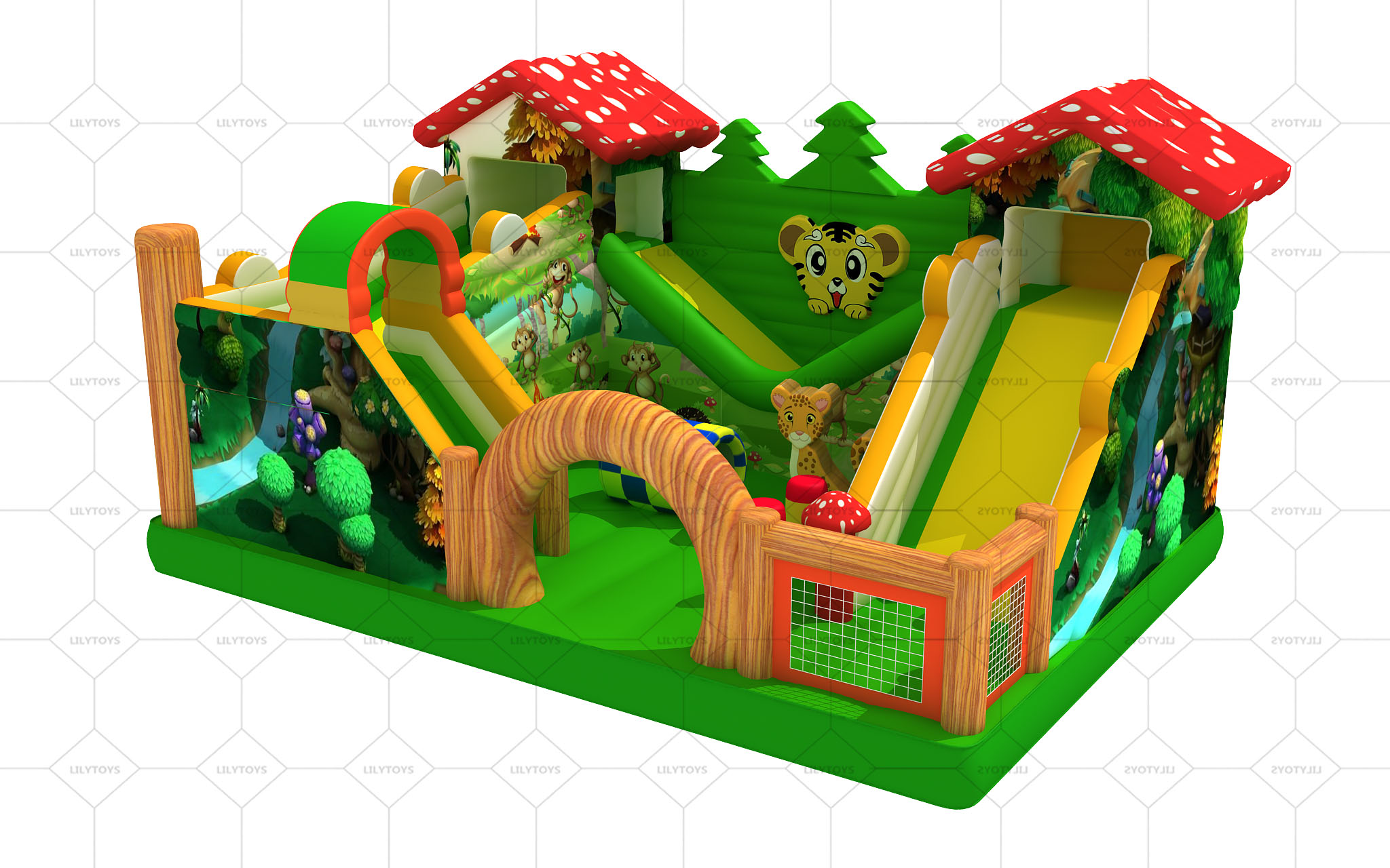 forest inflatable playground
