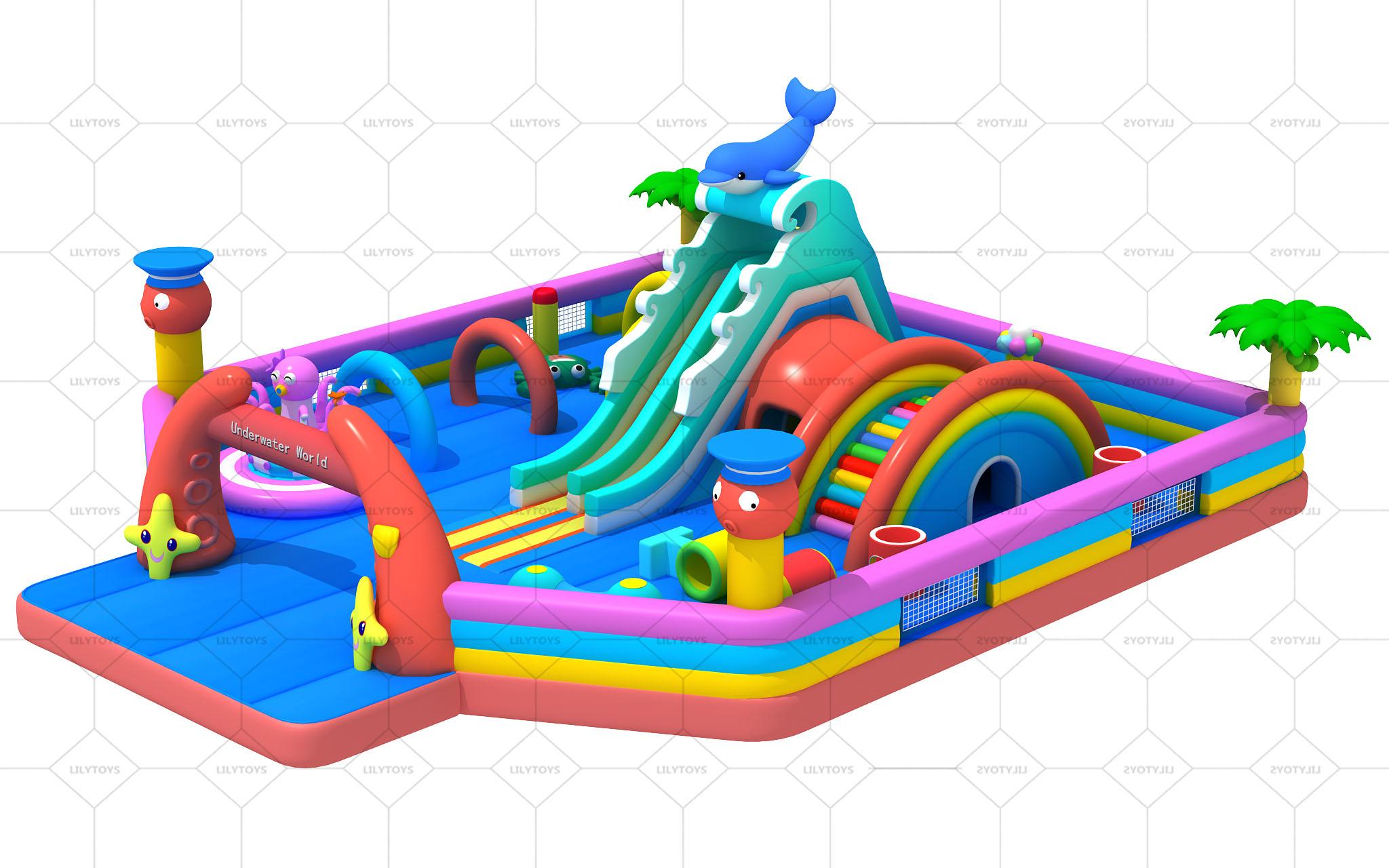 inflatable playground sea theme park
