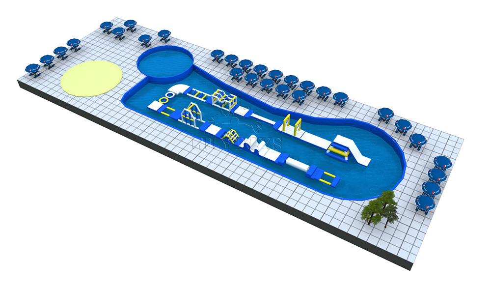 pool obstacle course water park