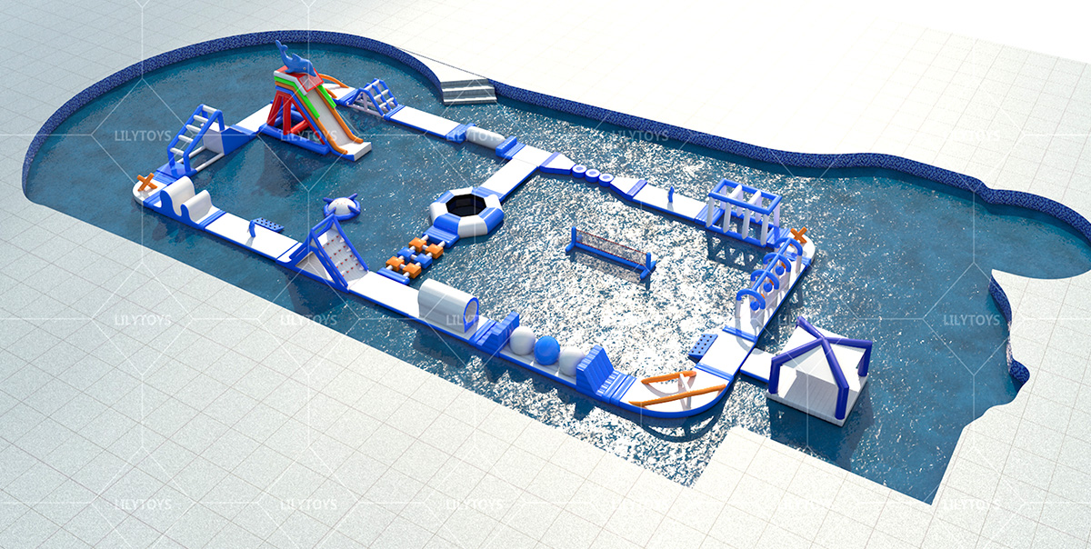 inflatable water obstacle -02