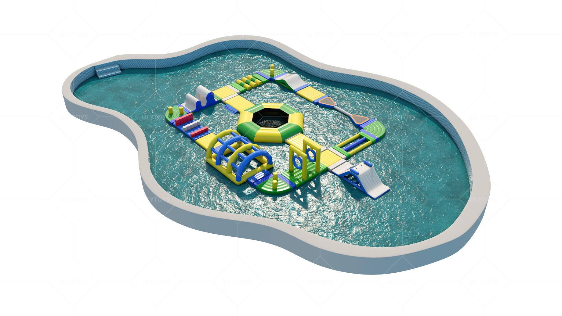 inflatable water par for the pool