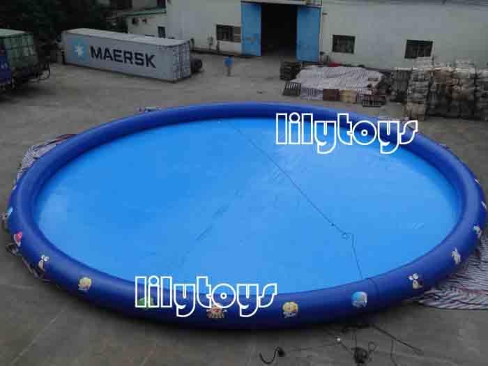 big inflatable round pool
