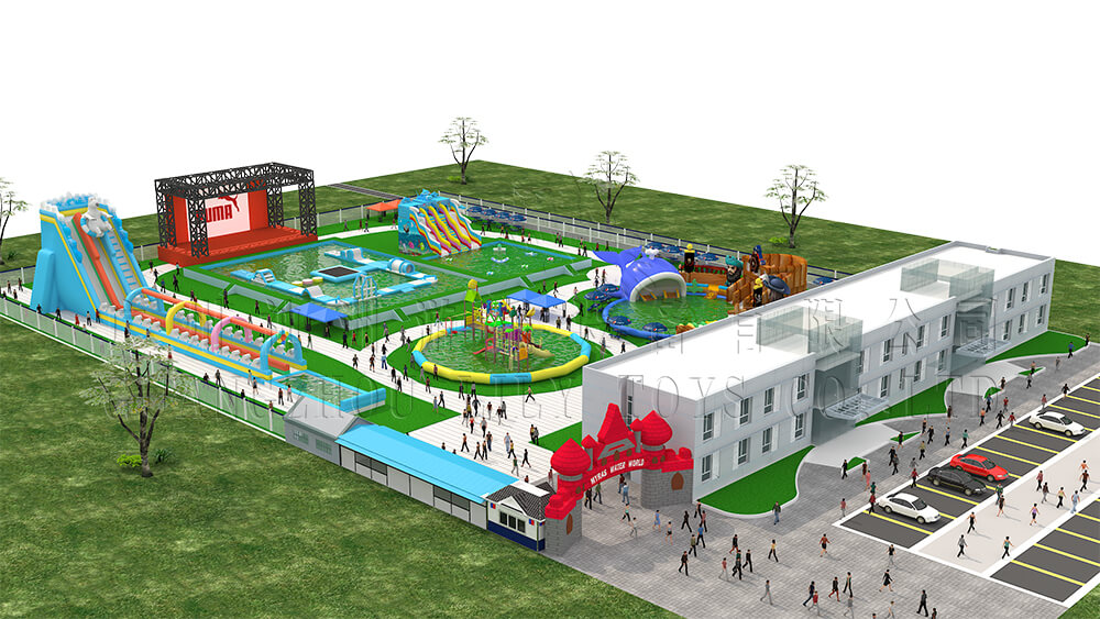 8000 square meter  the water park design