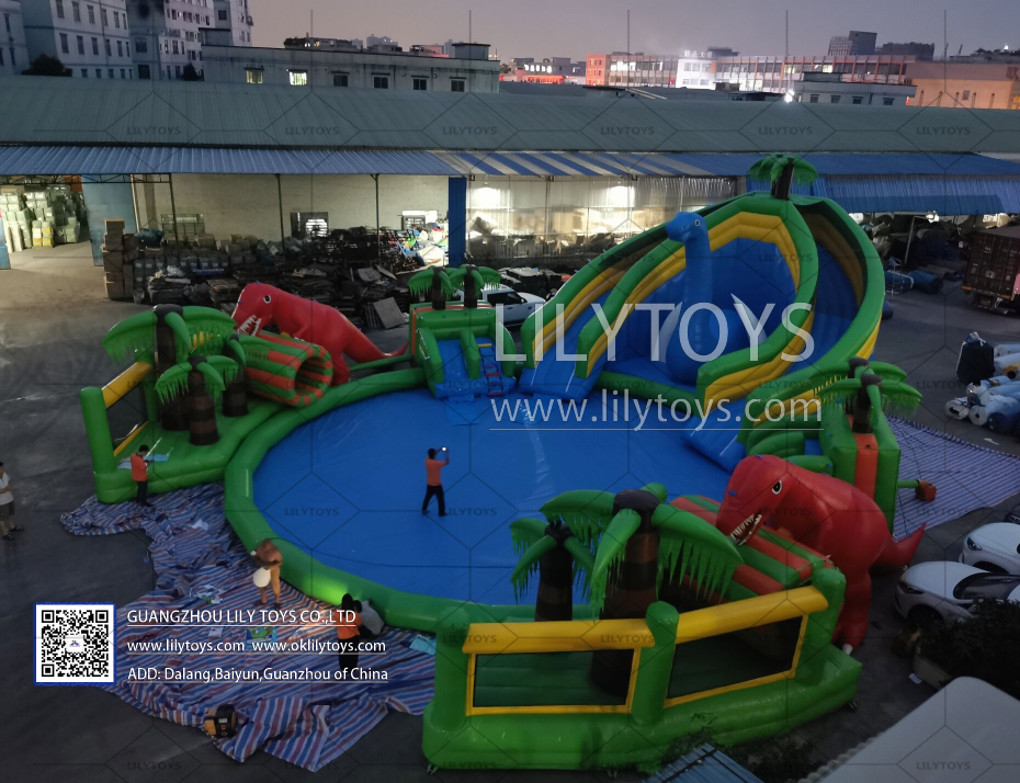 big water park with pool for summer