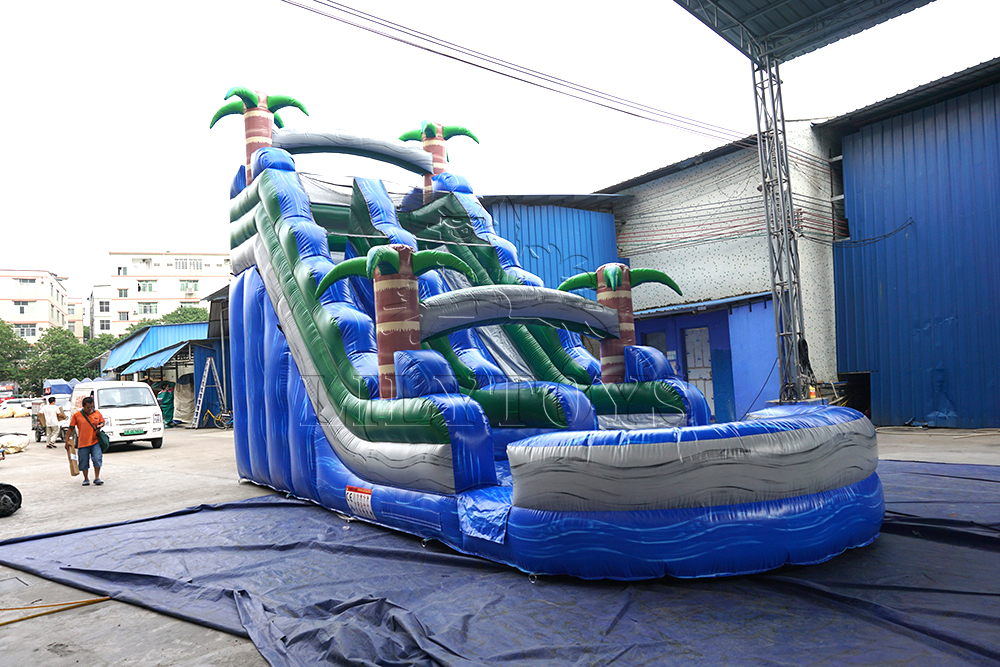 33ft giant inflatable water slide blue