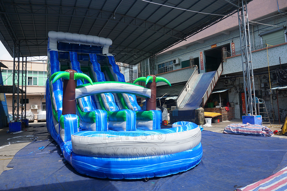 3 lanes giant inflatable water slide for sale