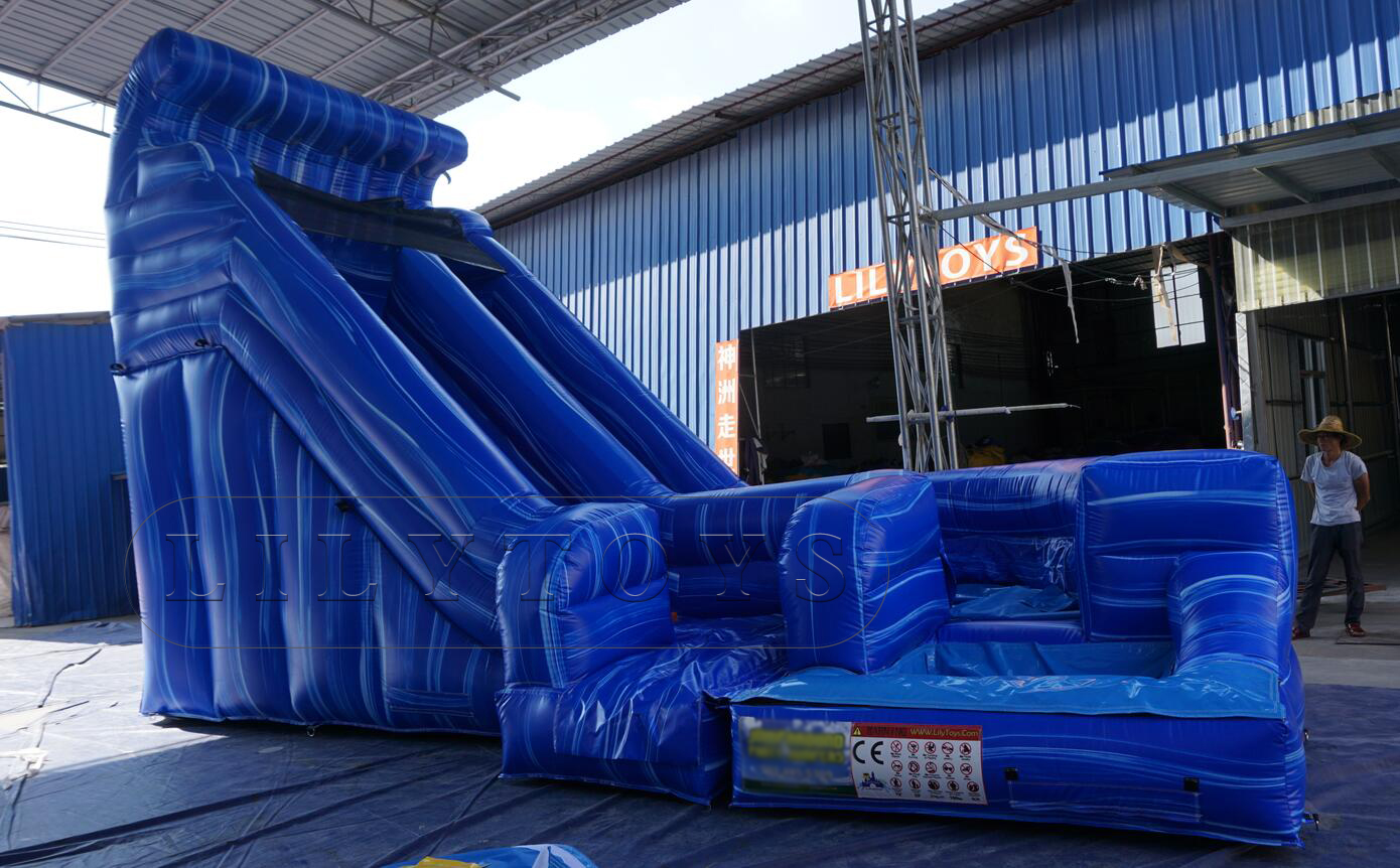 hot sale wave inflatable water slide