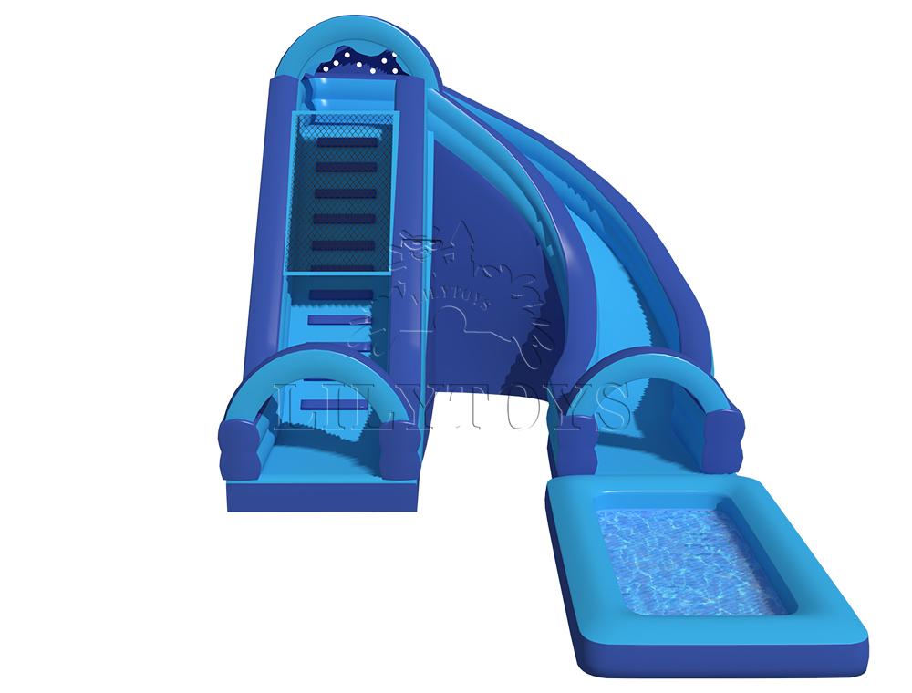 blue commercial water slide for park