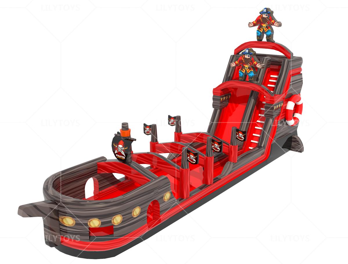 inflatable new pirate slide n slip bounce