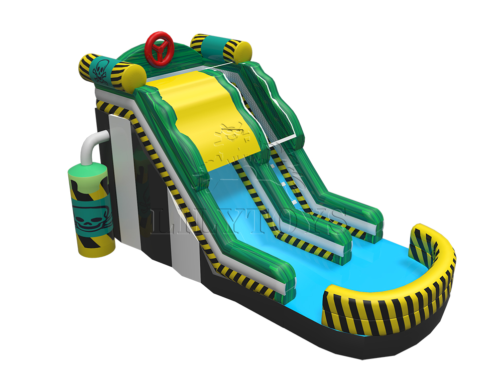 gas inflatable water slide