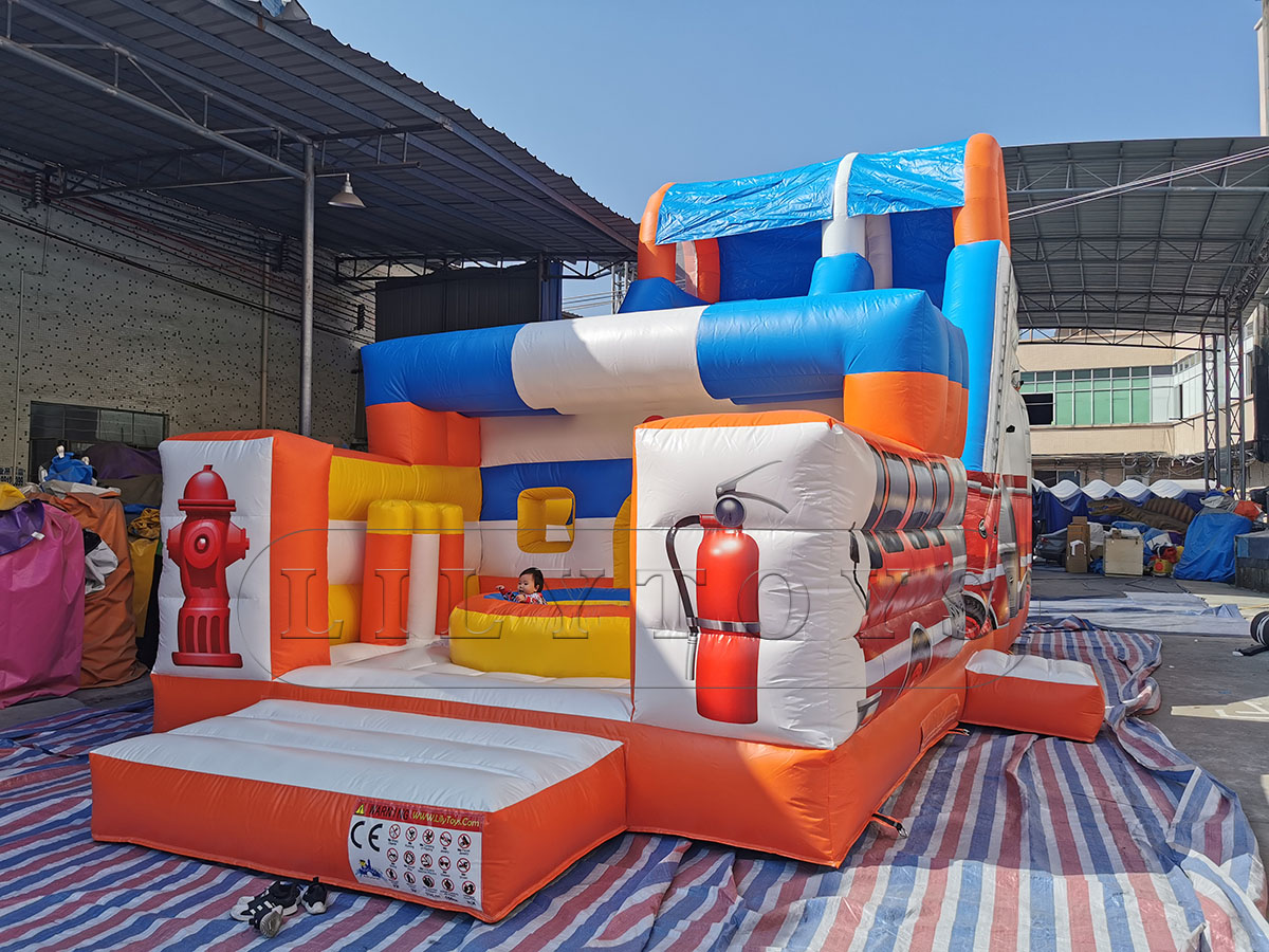 Lilytoys inflatable slide bouncer jumping castle for kids customized trampoline sea world outdoor playground with CE
