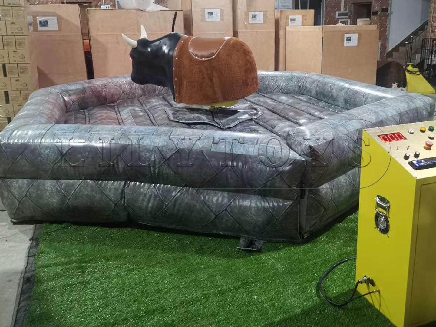 Inflatable interactive bull games
