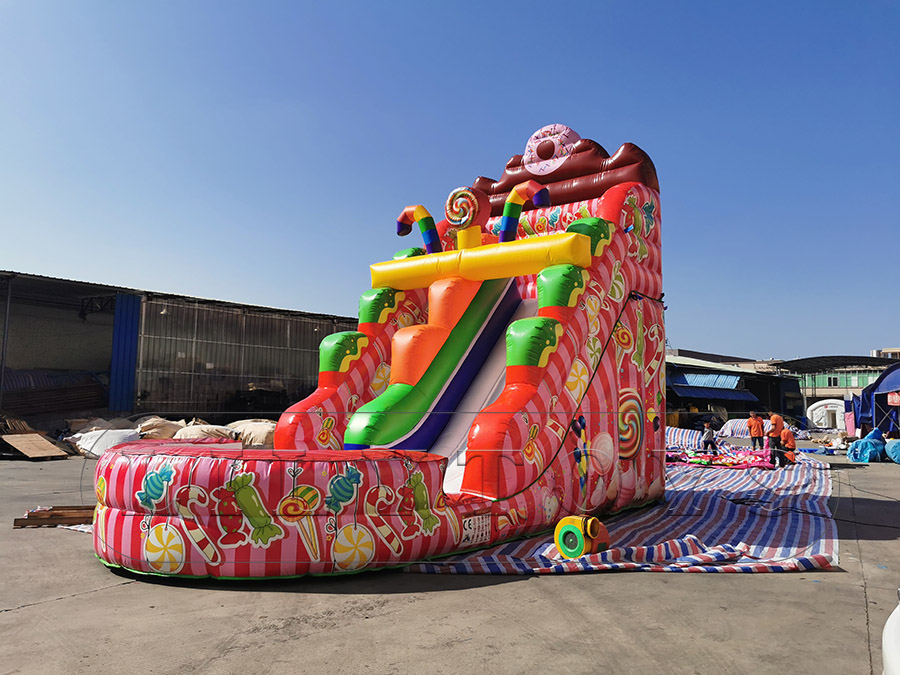 inflatable candy slide with water