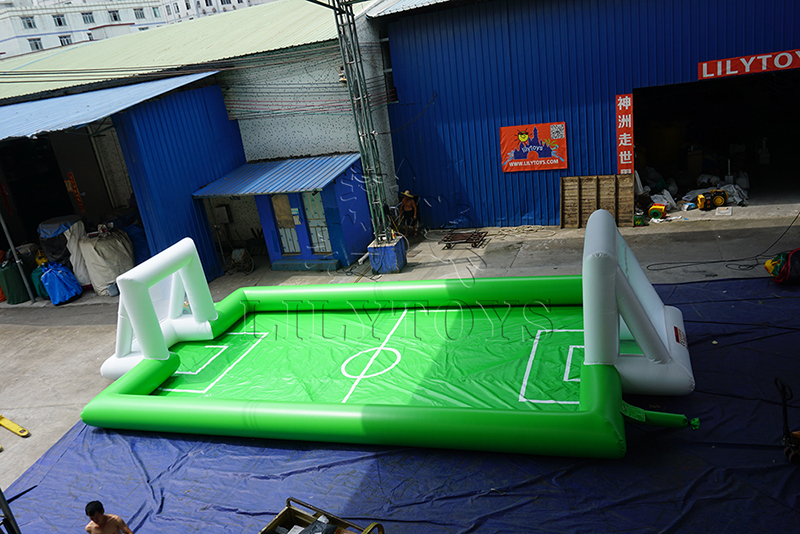 inflatable football soccor field