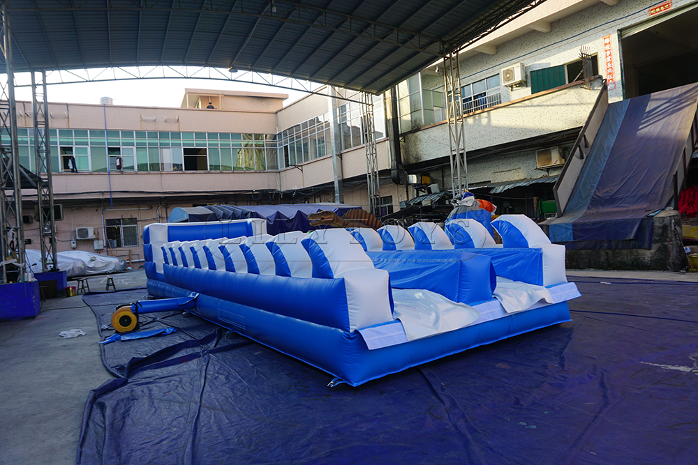 customized wave bungee run for two person