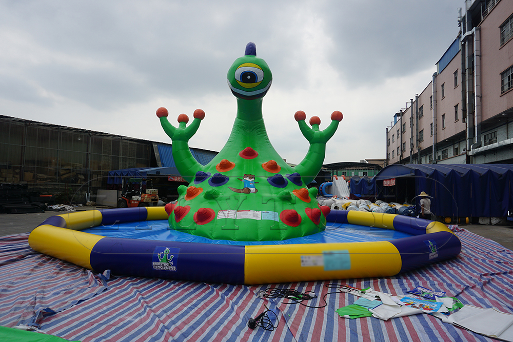 monster climbing inflatable water park