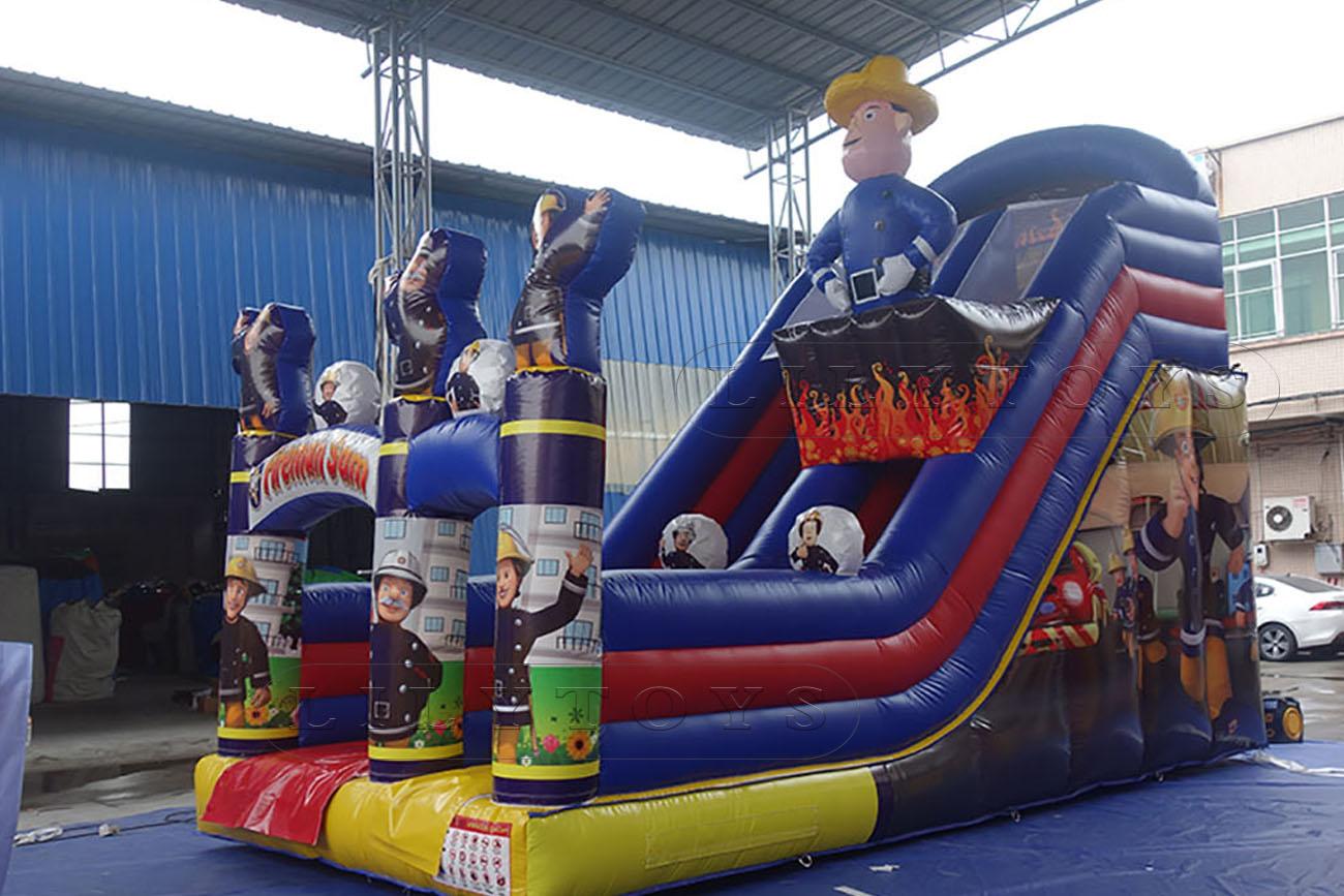 inflatable fireman slide for sale