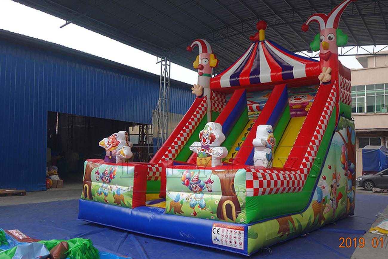 clown carnival slide bounce inflatable slide