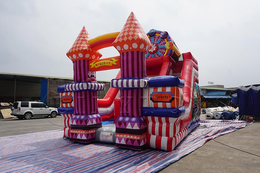 inflatable carnival slide bounce castle