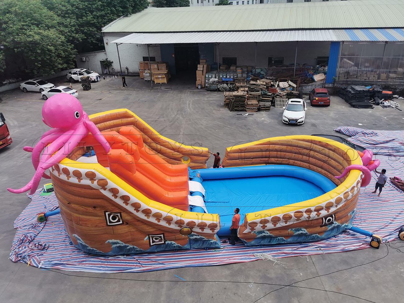 octopus pirte boat with pool