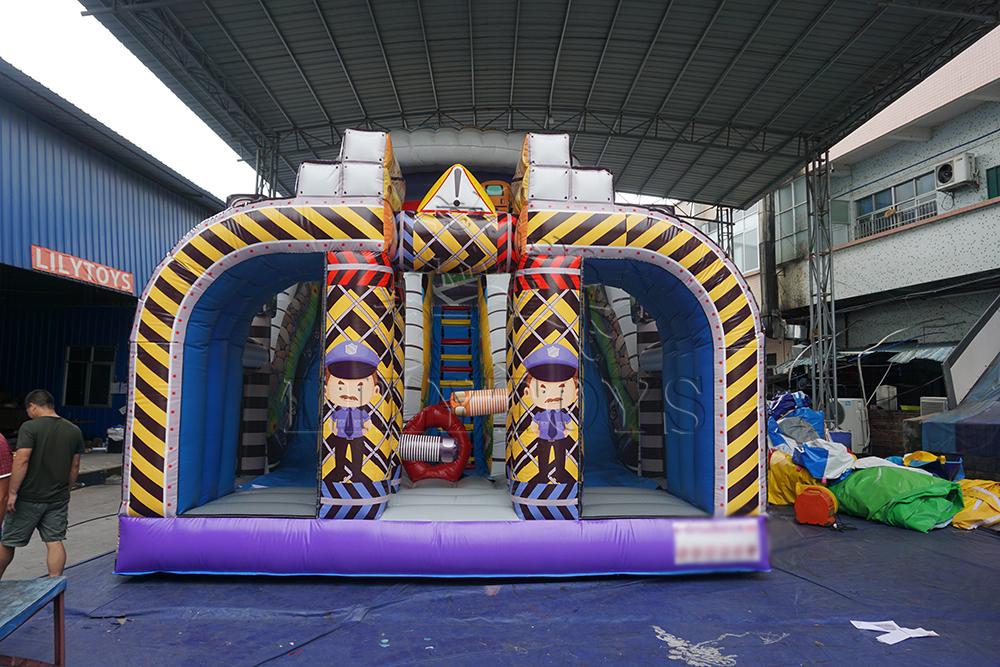 big city road inflatable slide